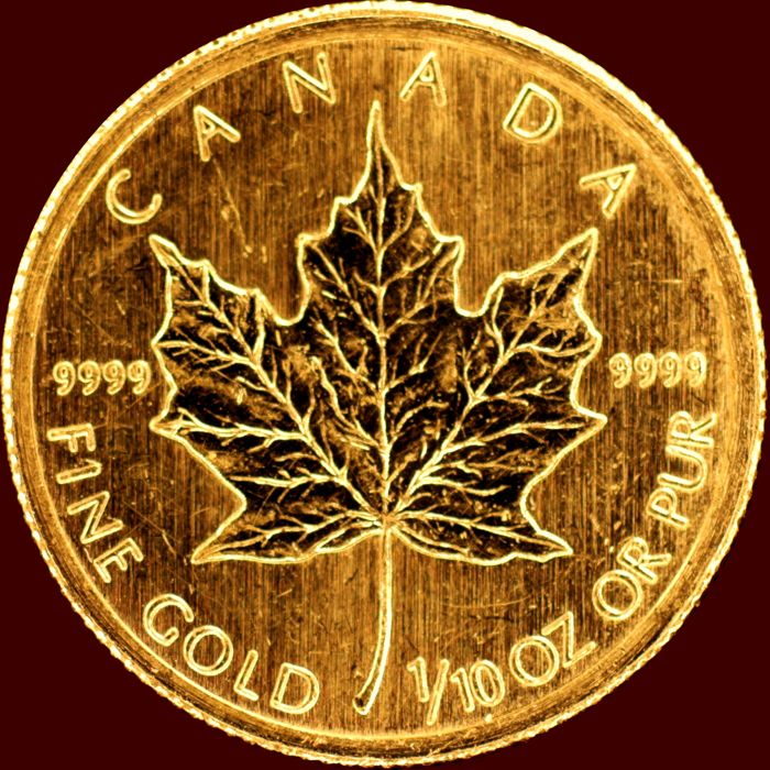 Canada - 5 Dollar 2009 'Maple Leaf' - Elizabeth II - 1/10 oz Gold