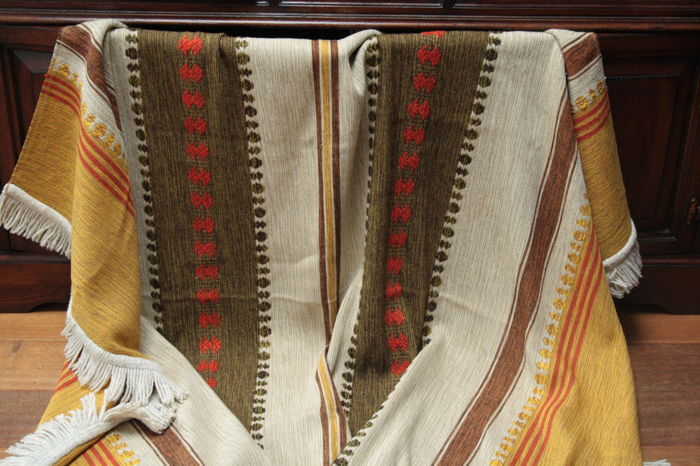 Antique cloth double woven cloth