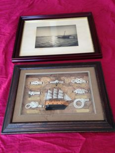Two vintage Marine artworks