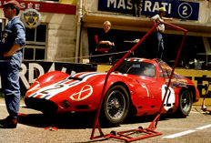 1962 Le mans 24 Hour Maserati Tipo Mc Laren Colour Photograph 54cm x44cm
