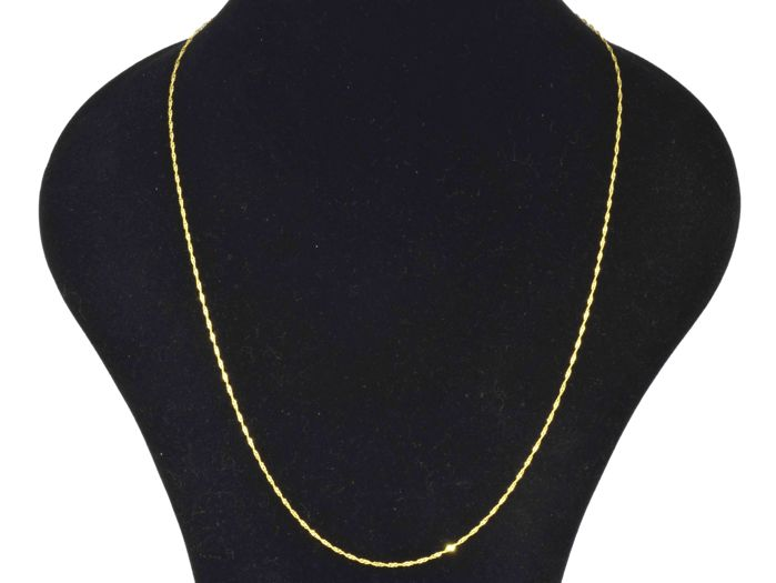18k Gold. Chain Singapore. Length 55 cm