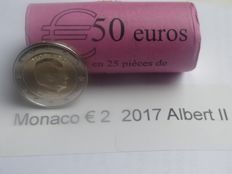 Monaco – 2 Euro 2017, Albert II (25 pieces), in roll