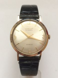 Chalet 9k Solid Gold Classic Mechanical Wristwatch
