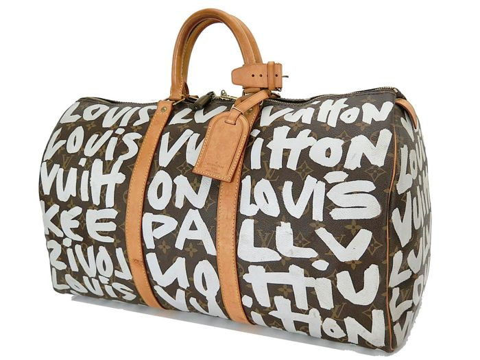 ce7710047e5c2 Louis Vuitton – Graffiti Keepall 50 Monogram travel bag – Stephen Sprouse –  Collector s bag
