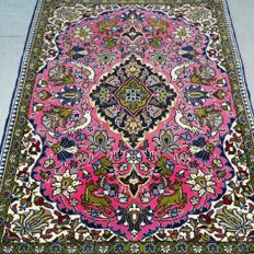 Superior finely knotted tree of life Qom Persian carpet – very good condition – with certificate