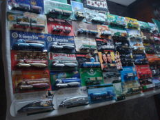 Various brands - Scale 1/87 - Lot with 82 Models: Brewery trucks, advertising trucks, some classic trucks and rarities, in original packaging