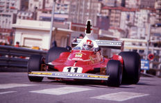 1975 Ferrari  Clay Regazzoni  Monaco grand prix Photograph   54 cm x 44 cm
