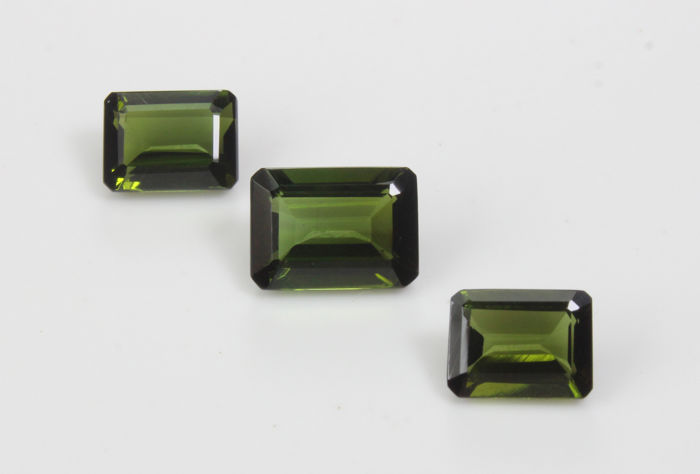 Three Verdelite Tourmaline - 6.25 ct Total