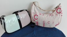 Armani two-tone bag in pink/pale blue & Coccinelle shoulder bag