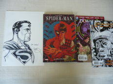 Original Comic Art By Eisner Award Winning Cover Artist Tony Harris - Includes 3 Additional Signed Comic Books