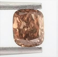 CHUSHION - Natural Fancy Intense Brown - 1.15 ct - SI1 clarity - IGL - Untreated.