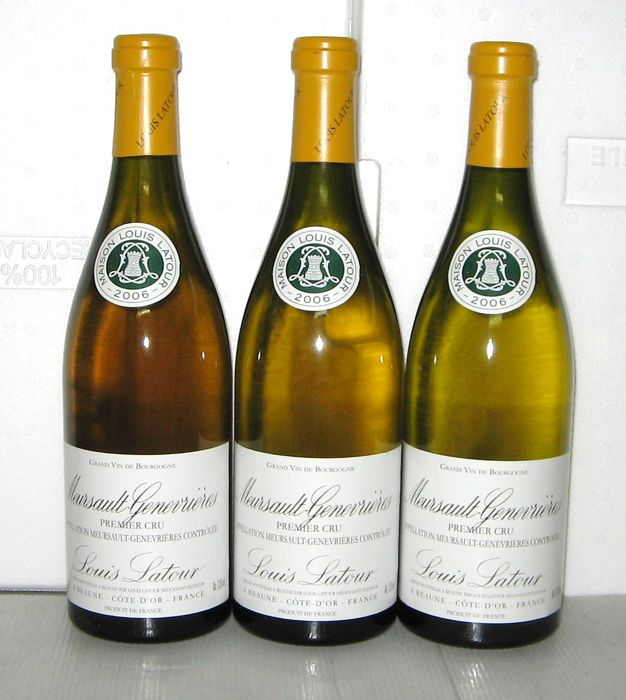2006 Meursault 1er Cru Genevrières, Louis Latour – Lot of 3 bottles