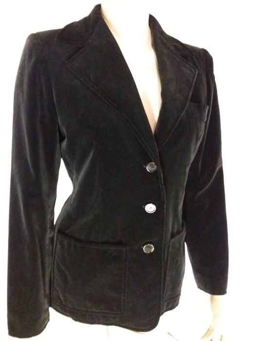 Yves Saint-Laurent Rive Gauche - Velvet, tailored fit, vintage jacket