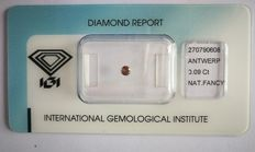 Natural Fancy Dark Pinkish Brown Diamond 0.09 ct  with IGI cert *** no minimum price***