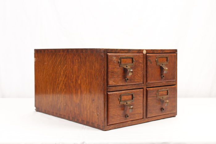 English Libraco Index Card Cabinet, First Half 20th Century