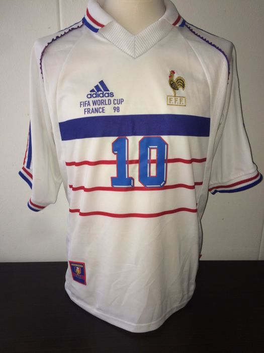 ea74c50ce Zidane France World Cup 1998. Unique away shirt vs Italy. - Catawiki