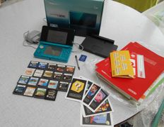 Nintendo 3DS Aqua Blue including  19 games