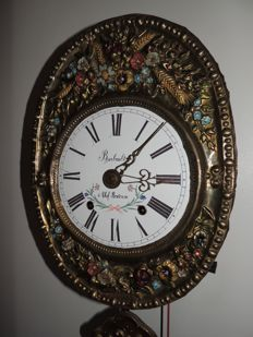 Latoen copper polychrome comtoise, signed 'Barbault a Chef-Boutonne', end 19th century
