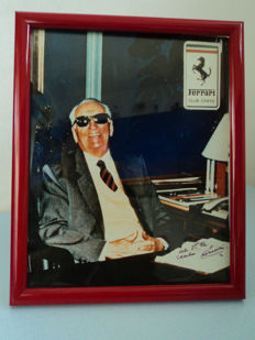 Authentic Enzo Ferrari photo, 1990s