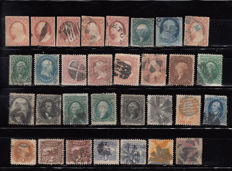 United States of America, 1851–1869 – lot of classic stamps.