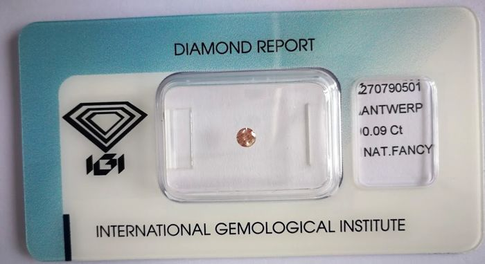 Natural Fancy Deep Brown - Pink Diamond 0.09 ct  with IGI cert *** no minimum price***