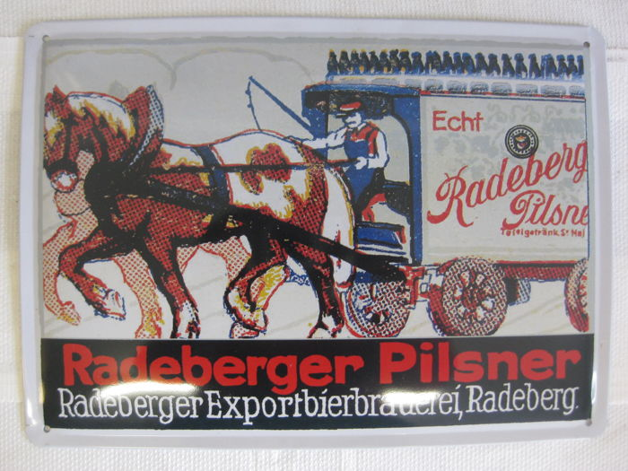 Radeberger Pilsner metal sign