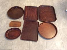 Gerling Sol-Ohligs - Lot with seven laminated vintage trays