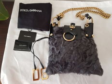 Dolce & Gabbana – Exclusive bag in Astrakhan fur – Bag with shoulder strap