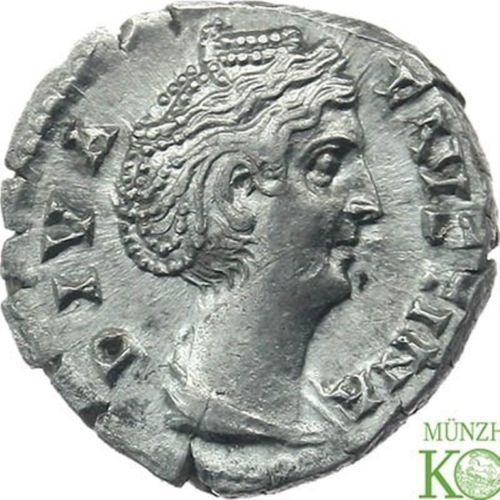 Roman Empire – Silver denarius of diva Faustina (Mother Faustina, of Antoninus Pius). Mint: Rome. Later than 141 A.D.