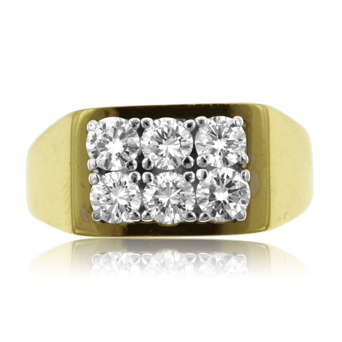 0.72 ct Six-stone Diamond Fantasy Ring - Ring size: 56-17 3/4-P (UK)
