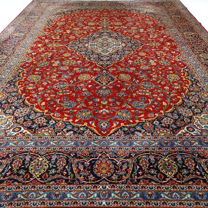 "Signer Keshan – 425 x 315 cm – ""Showroom carpet – Super-oversized – Persian carpet in beautiful condition"" – With certificate"