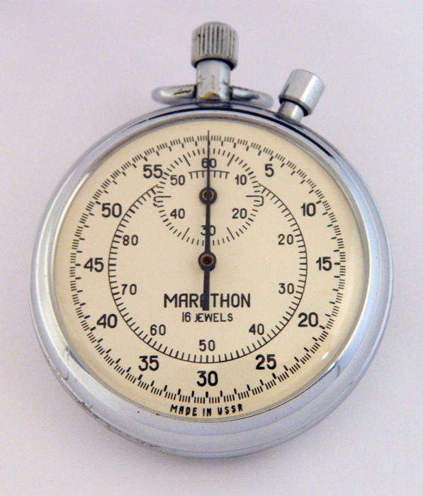 Marathon Chronometer – stopwatch made in the USSR in the 1960s.