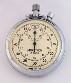 Marathon  chronometer - stopwatch made in USSR jaren 60