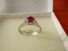 Ring with ruby and diamonds, from the 1960s.