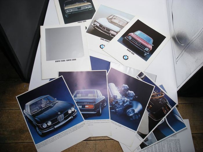 Lot of 5 Classic BMW Limousines Brochures 1968-1973