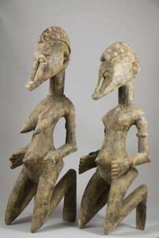 Couple of large divinatory Figurines - SENUFO - Ivory Coast