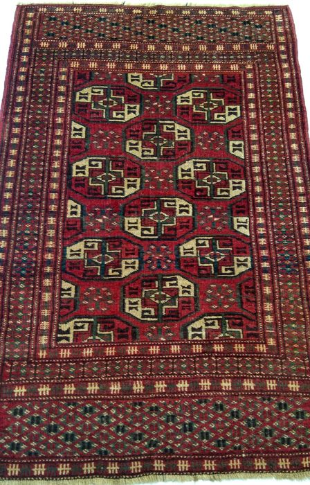 An Antique Turkmen Rug, North-East of Iran, 90 years old