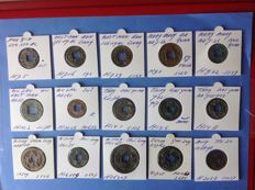 China - 15 AE Coins - From 350 BC. to 1398 AD. (Pre Qin, Western Han, Wang Mang, Tang, et al.)