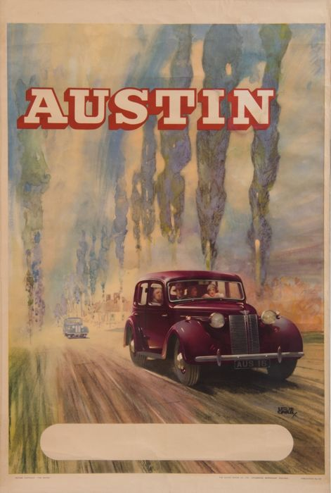 Austin - Leslie Carr (1891-1961) - Original Affiche The Austin Motor Co. - ca. 1947