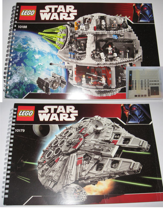 Star Wars 10179 10188 Original Instructions For Millennium