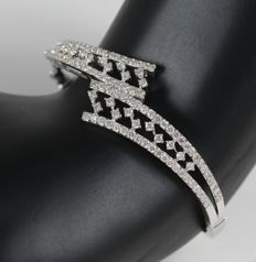 IGI certified Very Exclusive 14K White Gold Diamond Bracelet with 2.72 ct. Diamonds