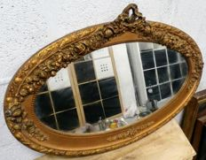 Oval mirror with gilts - France - c. 1900