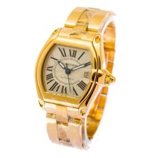 Cartier Roadster 2524  mens watch - full gold - gold bracelet