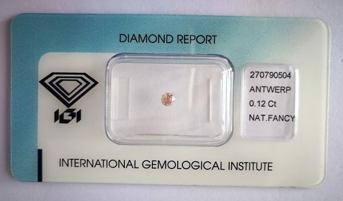 Natural Fancy Pink Diamond 0.12 ct  with IGI cert *** no minimum price***