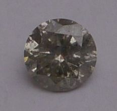 Diamond of 1.51 ct, brilliant-cut, sklightly brown, SI3 ***No Reserve***