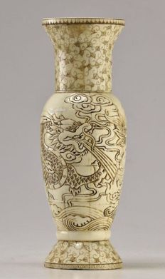 Carved Bone Jar - China - End of XIX century / Beginning of XX century