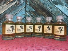 Hibiki 17 years old 50ml x 6 Miniature Set