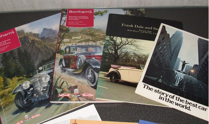 Lot of 8 Rolls Royce books, brochures and related items