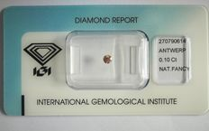 Natural Fancy Deep Brownish Pink Diamond 0.10 ct  with IGI cert *** no minimum price***