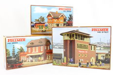Vollmer H0-3504/3529/5767 - Station, signal box and gatekeeper's house